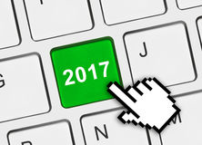 Tastiera di computer con la chiave 2017 Immagine Stock Libera da Diritti