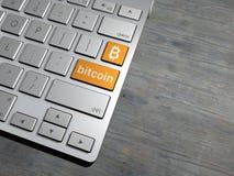 Tastiera di computer, il bottone di ricerca motore di ricerca, Bitcoin, cryptocurrency, Fotografia Stock Libera da Diritti