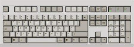 Tastiera di computer inglese di qwerty degli Stati Uniti grigio Immagine Stock