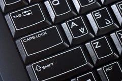 Tastiera di computer nera Fotografie Stock