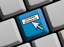 Tastiera di computer - sviluppatori di software Immagini Stock