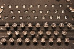 Tastiera di Enigma fotografie stock libere da diritti