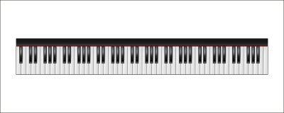 Tastiera di piano, 88 chiavi, isolate illustrazione di stock