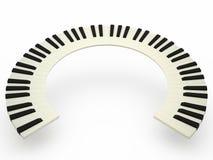 Tastiera di piano curva Fotografie Stock Libere da Diritti