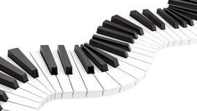 tastiera di piano curvy royalty illustrazione gratis