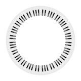 Tastiera di piano del cerchio fotografia stock