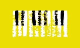 Tastiera di piano disegnata a mano di vettore Immagini Stock Libere da Diritti