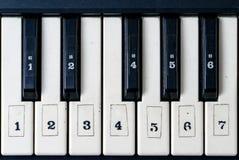 Tastiera di piano sporca Immagini Stock