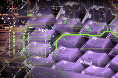 Tastiera di tecnologia Immagini Stock