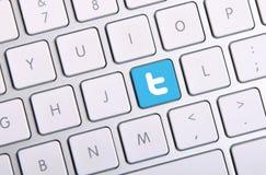 Tastiera di Twitter Fotografie Stock