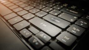 Tastiera di un computer portatile moderno Immagine Stock