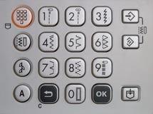 Tastiera di una macchina per cucire Fotografie Stock