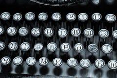 Tastiera di vecchia macchina da scrivere Immagini Stock Libere da Diritti