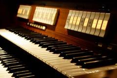 tastiera Due-manuale dell'organo Immagine Stock