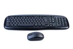 Tastiera e mouse di calcolatore isolati. Fotografia Stock
