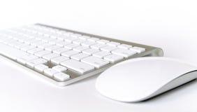 Tastiera e mouse senza fili Fotografia Stock Libera da Diritti