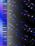 Tastiera e note Immagini Stock