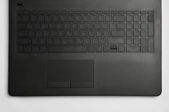 Tastiera e touchpad del computer portatile fotografia stock