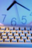 Tastiera ed orologio di calcolatore Fotografia Stock