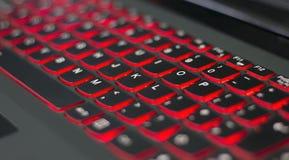 Tastiera illuminata del computer portatile Immagine Stock Libera da Diritti