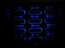 Tastiera illuminata del telefono Immagini Stock Libere da Diritti