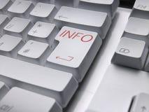 Tastiera Info Fotografia Stock Libera da Diritti