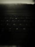 Tastiera nera Fotografia Stock