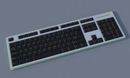 tastiera nera 3D Fotografie Stock Libere da Diritti