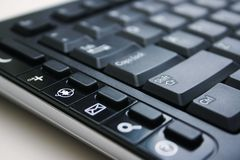 Tastiera nera con il tasto del Internet Immagini Stock