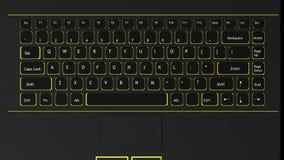 Tastiera nera del computer portatile Fotografia Stock