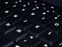 Tastiera nera del computer portatile Immagini Stock Libere da Diritti