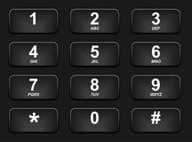 Tastiera nera del telefono Fotografia Stock