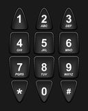 Tastiera nera del telefono Fotografia Stock Libera da Diritti