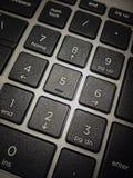 Tastiera numerica del calcolatore fotografie stock libere da diritti