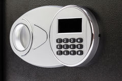 Tastiera numerica della cassetta di sicurezza, primo piano fotografia stock