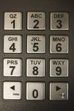 Tastiera numerica di BANCOMAT Fotografia Stock Libera da Diritti