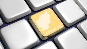 Tastiera (particolare) con il tasto del programma dell'Afghanistan Immagini Stock Libere da Diritti