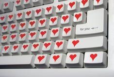 Tastiera per gli amanti Immagine Stock