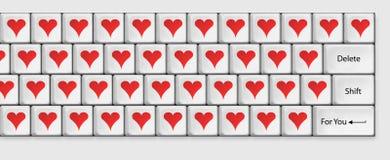 Tastiera per gli amanti Fotografia Stock