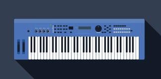 Tastiera piano su un'illustrazione rosa per il manifesto, prestazione di musica, festival di jazz di vettore delle azione del fon illustrazione di stock