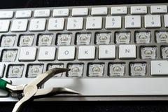 Tastiera rotta Fotografia Stock