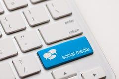 Tastiera sociale di media Immagine Stock Libera da Diritti