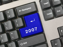 Tastiera - tasto blu 2007 Fotografia Stock Libera da Diritti