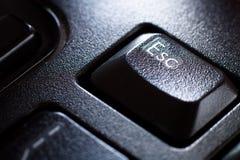 Tastiera, tasto di ESC Fotografie Stock Libere da Diritti
