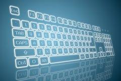 Tastiera virtuale nella prospettiva royalty illustrazione gratis