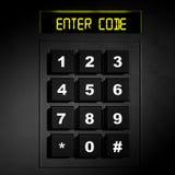 Tastierino numerico nero di sicurezza Fotografia Stock