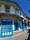 Tasties Café dans le village de Pano Lefkara, Chypre image libre de droits