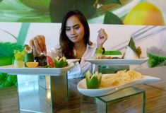 Tasting food Royalty Free Stock Image