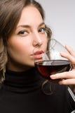 Tasting great wine. Royalty Free Stock Photos