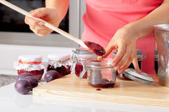Tasting the homemade jam Royalty Free Stock Images